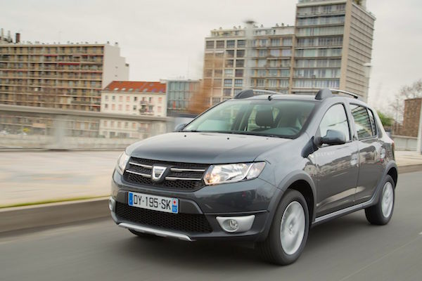 Dacia Sandero Czech Republic April 2016. Picture courtesy largus.fr