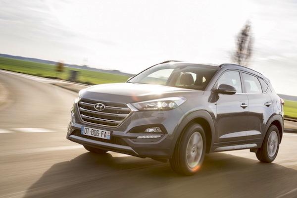 Hyundai Tucson Belgium March 2016. Picture courtesy largus.fr