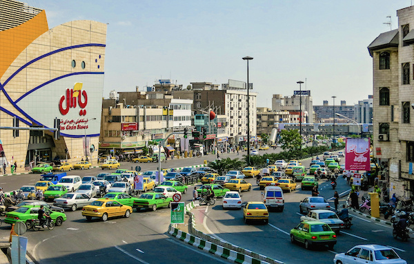 Tehran street scene Ninara