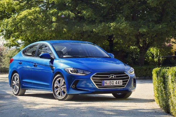 Hyundai Elantra Australia April 2016. Picture courtesy themotorreport.com.au