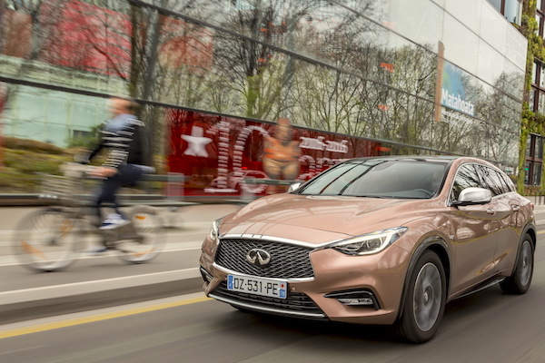 Infiniti Q30 Europe June 2016. Picture courtesy largus.fr