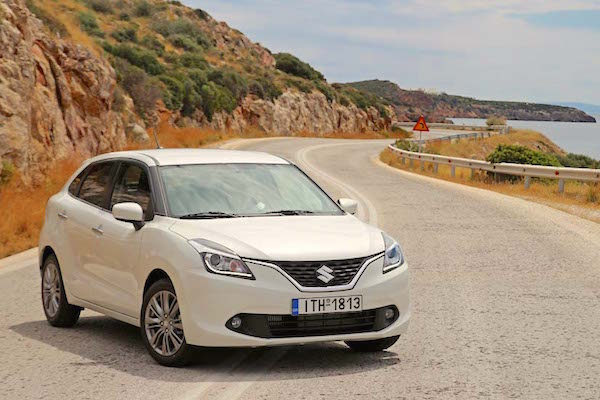 Suzuki Baleno Greece April 2016. Picture courtesy karoto.gr