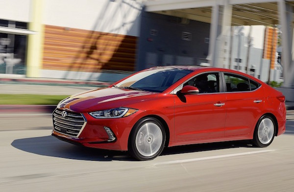 Hyundai Elantra USA May 2016. Picture courtesy caranddriver.com
