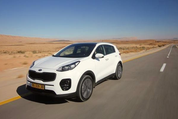 Kia Sportage Israel August 2016. Picture courtesy 4x4.co.il