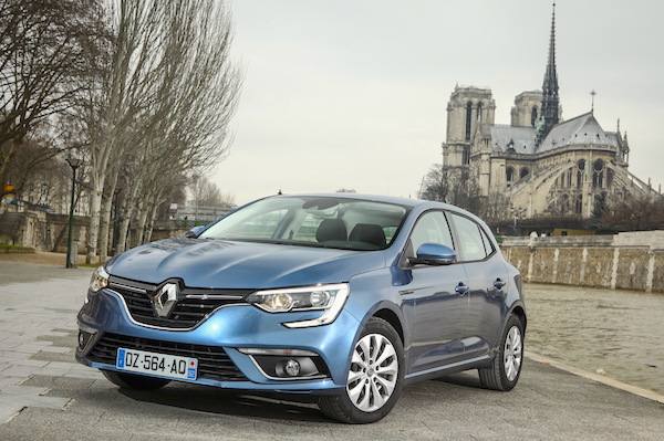Renault Megane France May 2016. Picture courtesy largus.fr