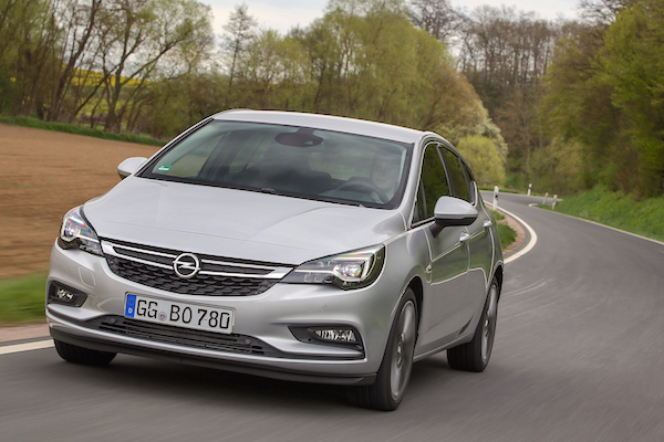 Opel Astra Europe June 2016