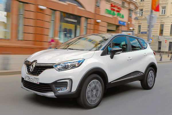 Renault Kaptur Russia June 2016. Picture courtesy zr.ru
