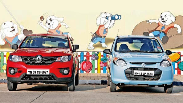Renault Kwid Maruti Alto India June 2016. Picture courtesy mid-day.com