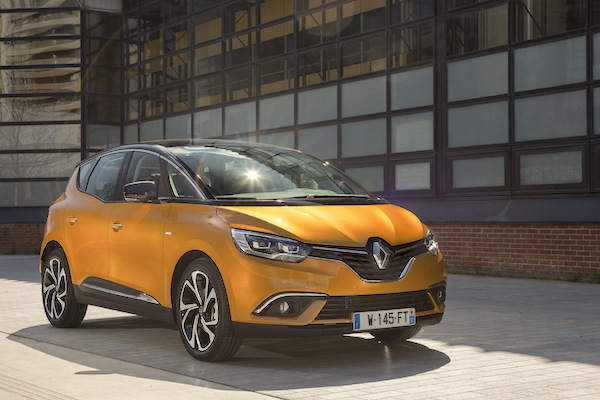 Renault Scenic Belgium May 2016. Picture courtesy largus.fr
