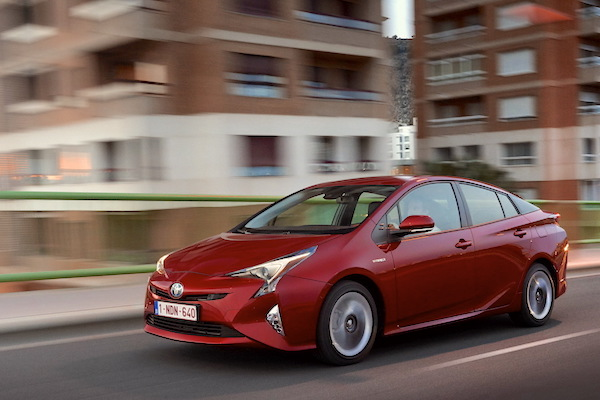 Toyota Prius Norway June 2016. Picture courtesy largus.fr