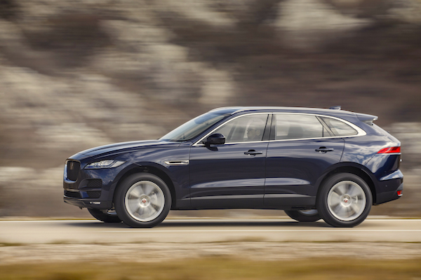 Jaguar F-Pace UK July 2016