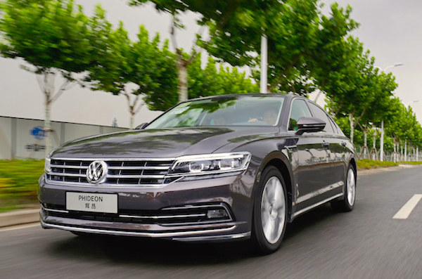 VW Phideon China July 2016. Picture courtesy 58che.com