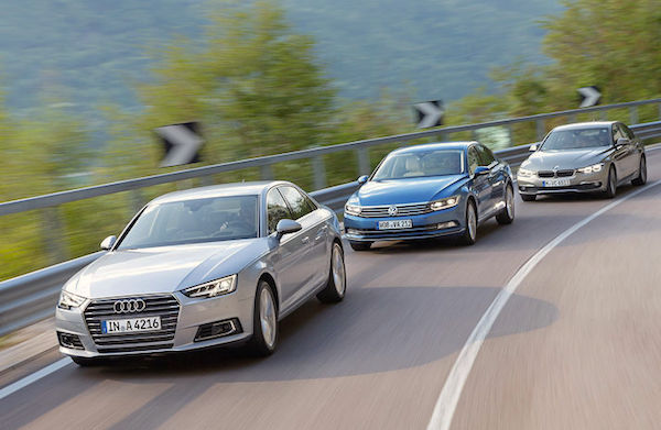 Audi VW BMW UK August 2016. Picture courtesy auto-motor-und-sport.de