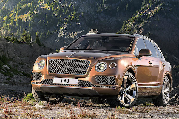 Bentley Bentayga Germany August 2016. Picture courtesy autobild.de