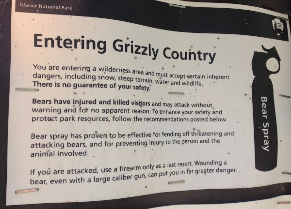 Entering Grizzly Country