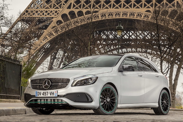Mercedes A Class France August 2016. Picture courtesy largus.fr