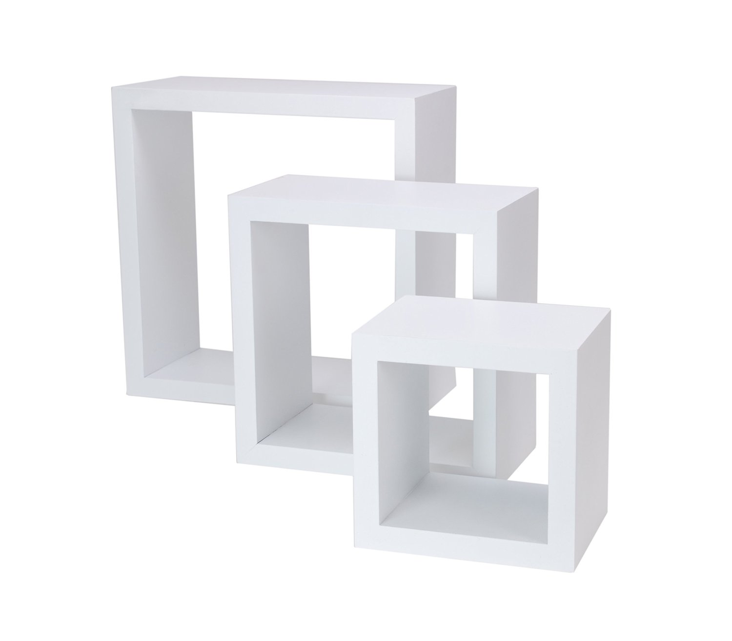 Wall Mounted Shelves Canada White Floating Wall Shelves Set Of 3 For Your Rooms Review
