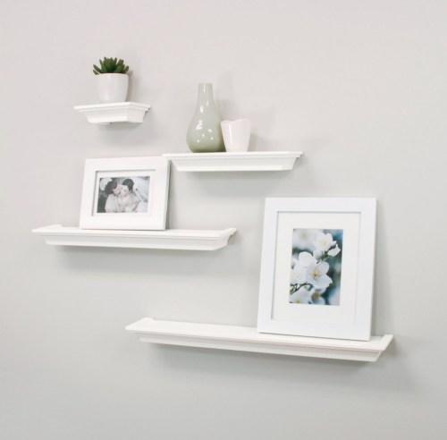 Medium Of Unique Floating Shelves