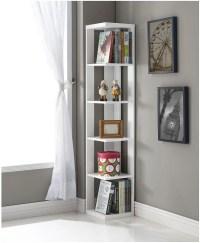 White Living Room Shelves