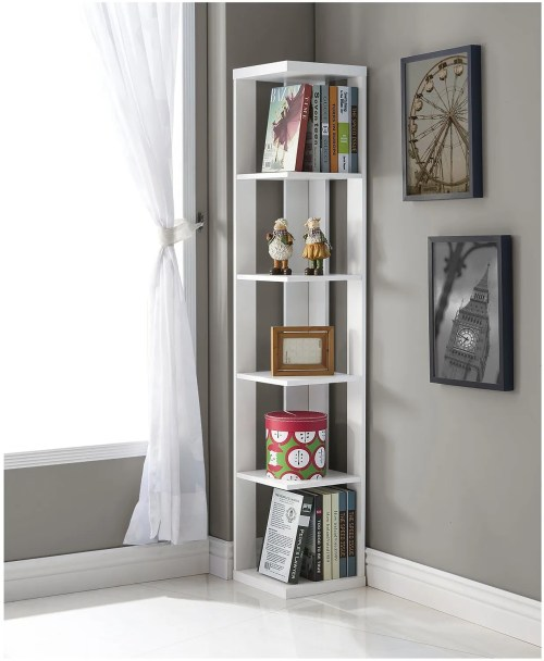 Medium Of White Corner Shelf