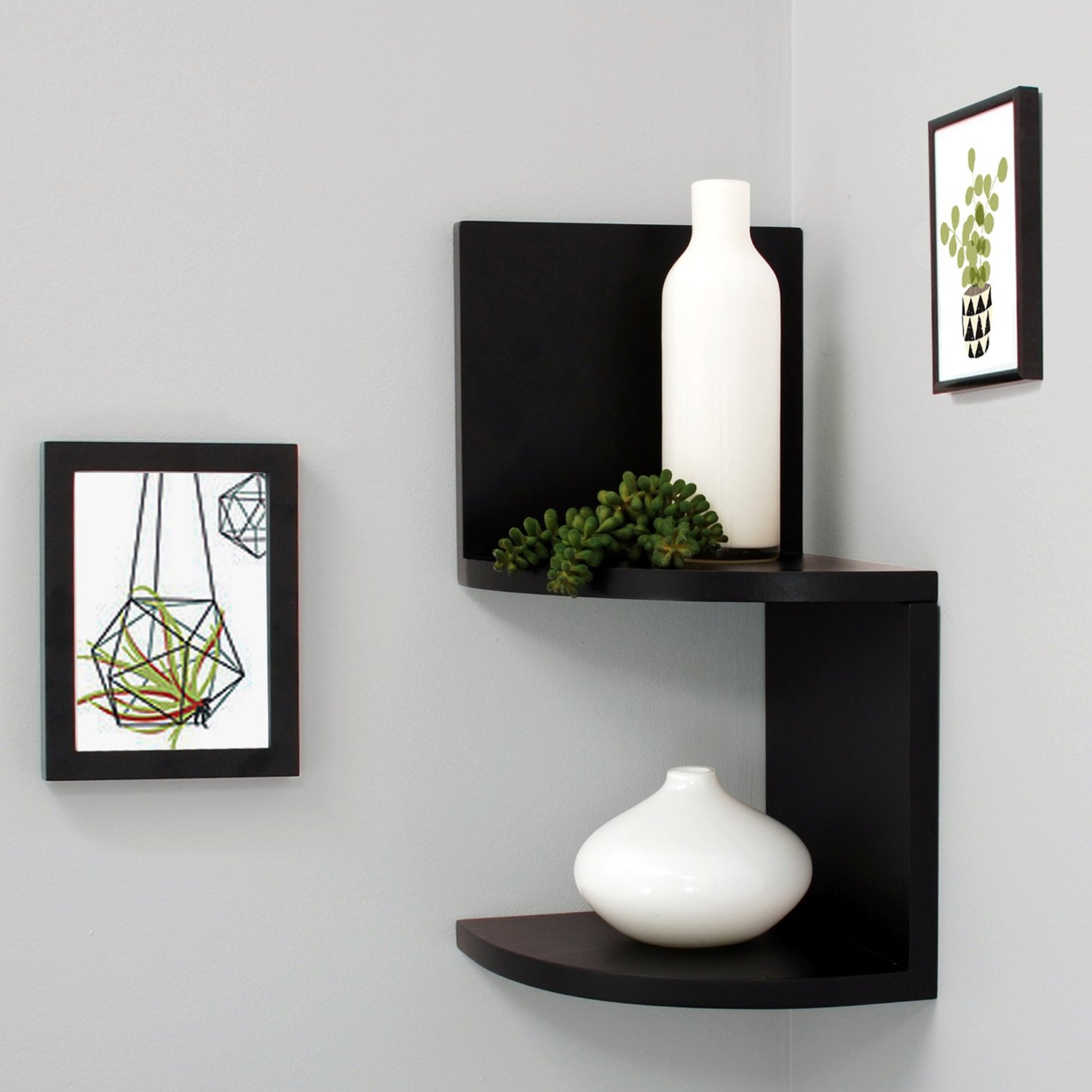 Floating Shelves Corner Wall Top 16 Black Floating Wall Shelves Of 2016 2017 Review