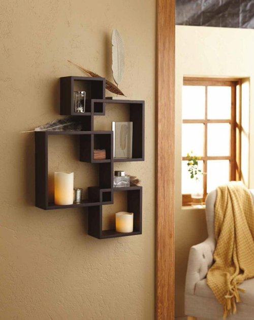 Especial Intersecting Square Black Floating Wall Shelf Black Floating Wall Shelves Review Wall Decorative Shelving Wall Decorative Shelves