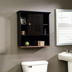 Splendid Sauder Wall Cinnamon Cherry Finish Wooden Bathroom Shelves Reviews Wooden Bathroom Wall Shelves Wood Bathroom Wall Shelves
