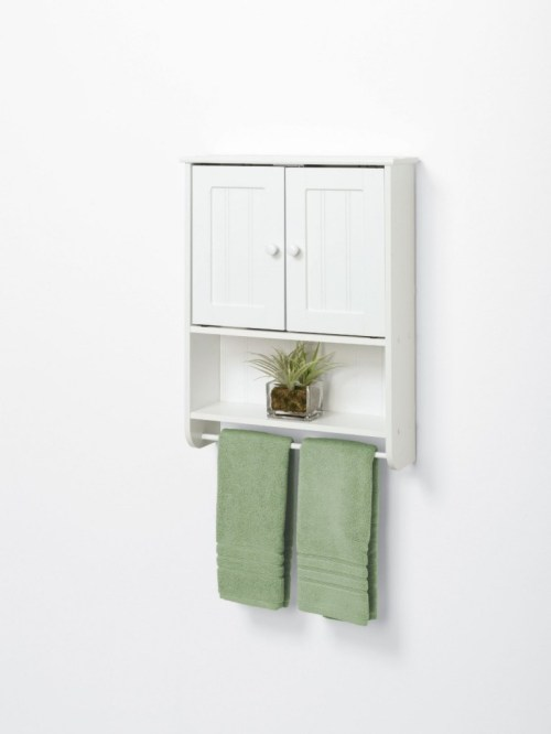 Medium Of White Wood Bathroom Shelf