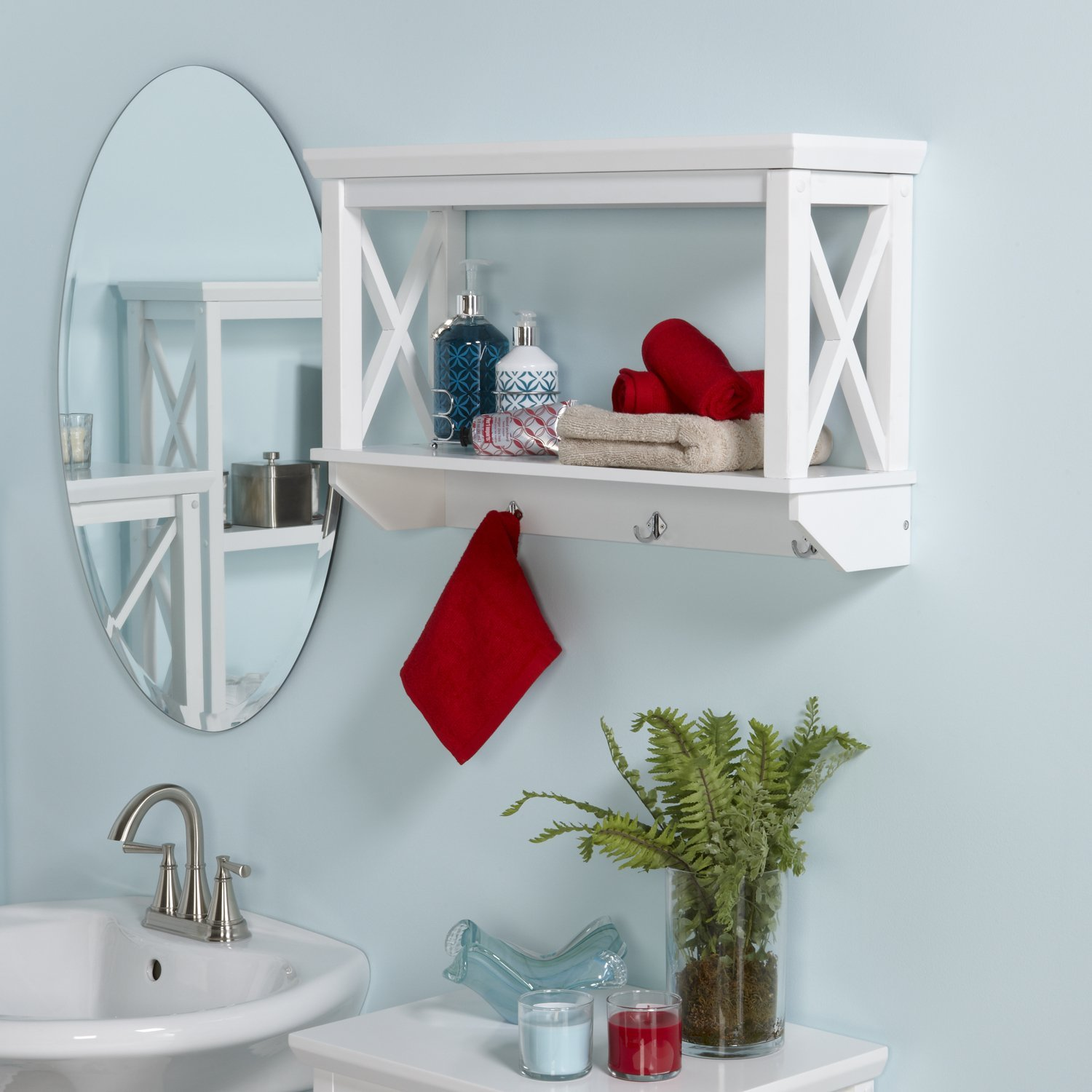 Pictures Of Wall Shelves 20 Best Wooden Bathroom Shelves Reviews