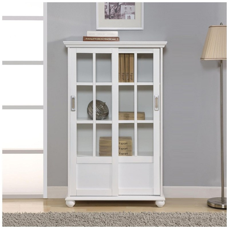 Large Of Glass Door Bookcase