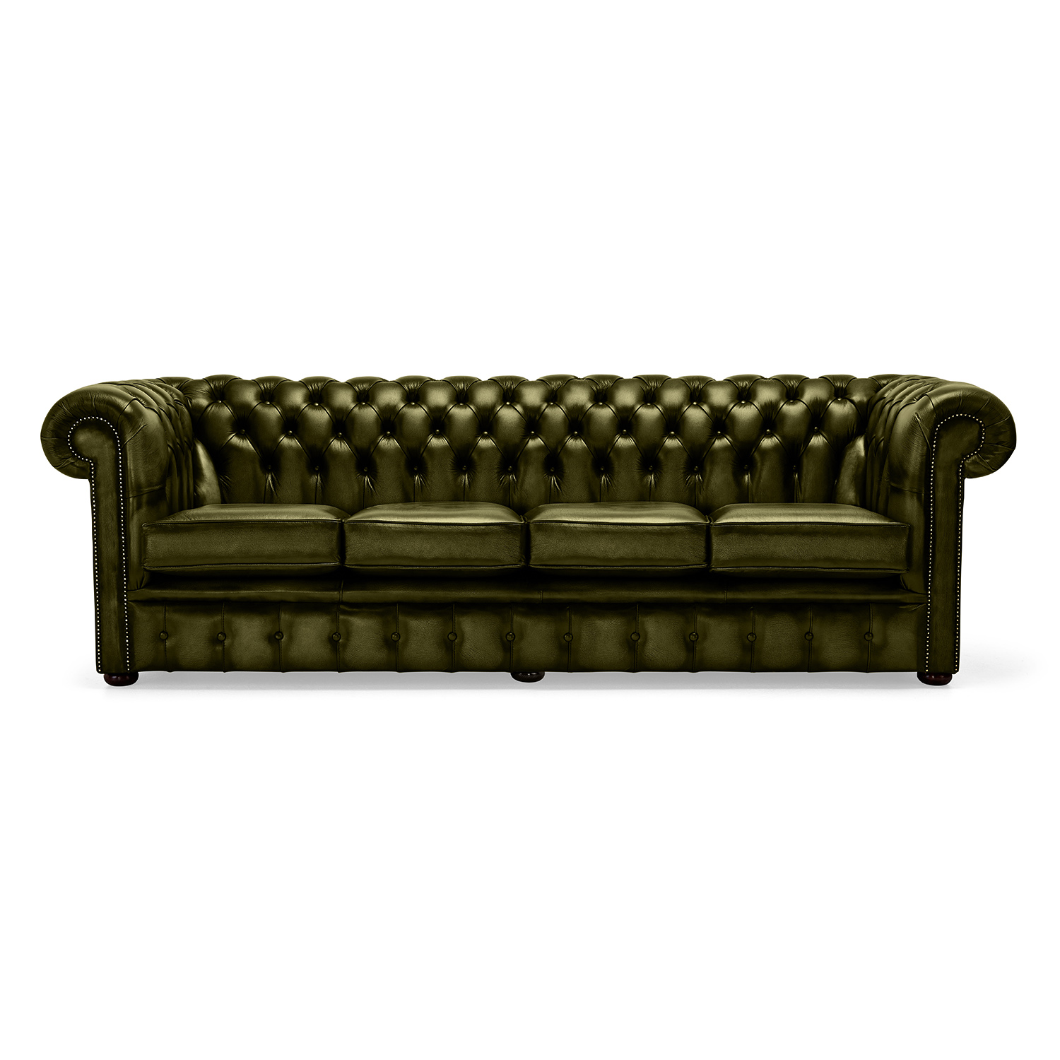 4 Seater Chesterfield Corner Sofa Belvedere Chesterfield 4 Seater Antique Leather Sofa Olive