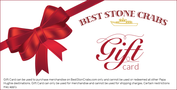Gift Certificates  Best Stone Crabs
