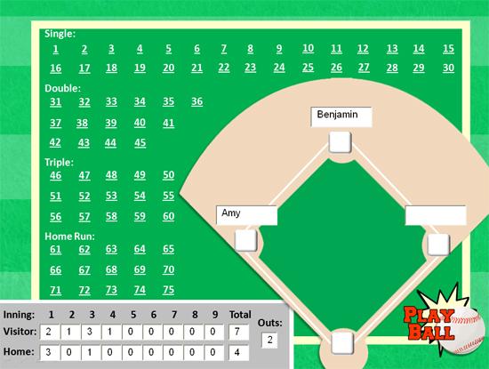 Baseball PowerPoint Template - Classroom Game