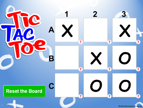 Tic Tac Toe PowerPoint Template - Classroom Game