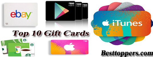 Top 10 Gift Cards