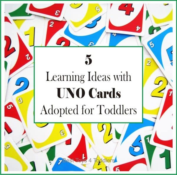 5 Learning Ideas with UNO Cards Adapted for Toddlers