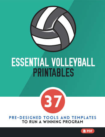 Essential Volleyball Printables \u2014 BestVolleyballDrills - volleyball roster template