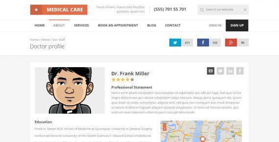 Medical Care \u2013 Responsive Medical HTML5 Template \u2013 BestWebSoft - patient profile template