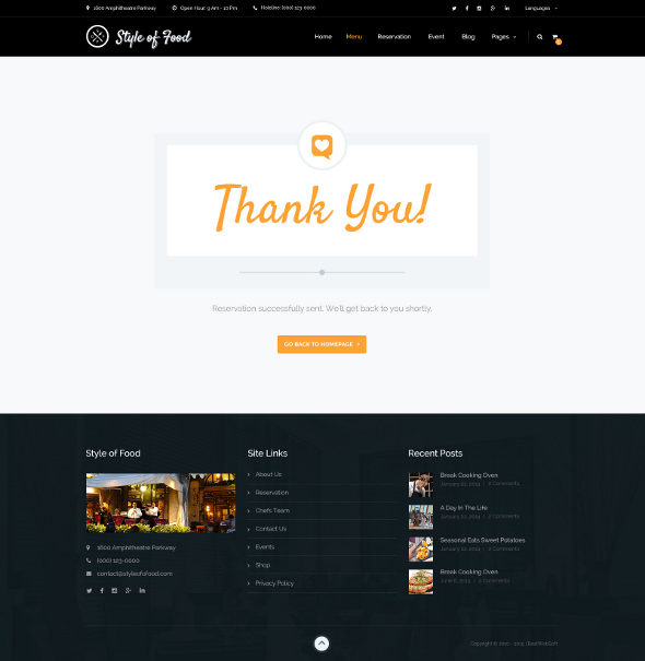 Introducing Style of Food - Restaurant  Cafe PSD Template \u2014 BestWebSoft