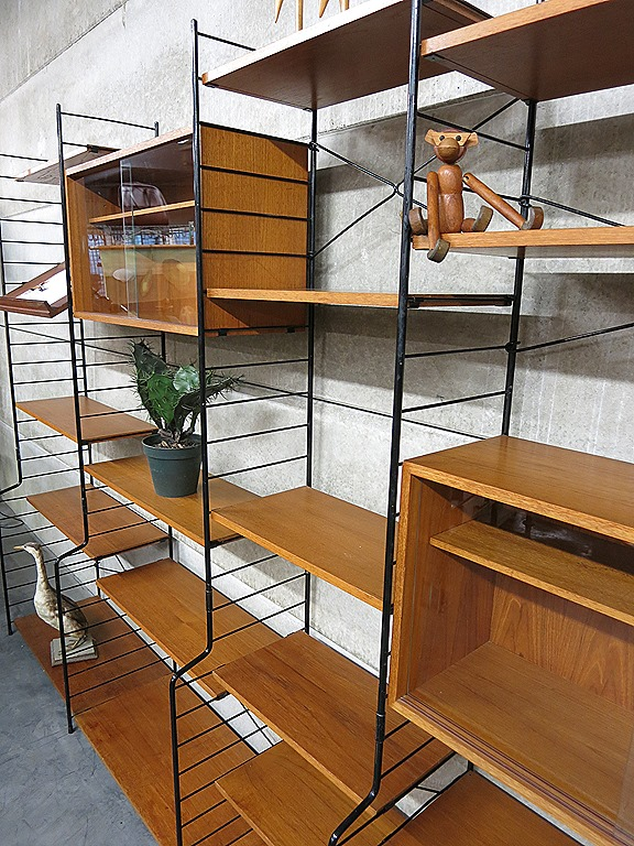 String Nisse Mid Century Design Wall Unit Danish Style, Deens Vintage