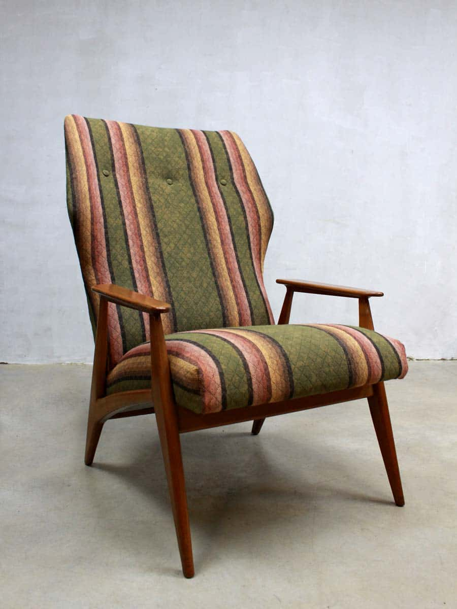 Teak Bank Nl Vintage Danish Wingback Chair, Vintage Design Fauteuil Deense