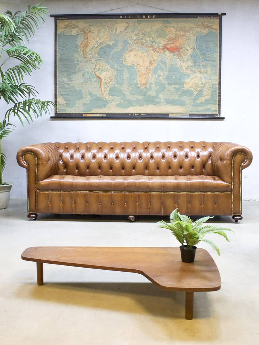 Lounge Bank Xl Vintage Leather Chesterfield Vintage Leren Lounge Bank Xl