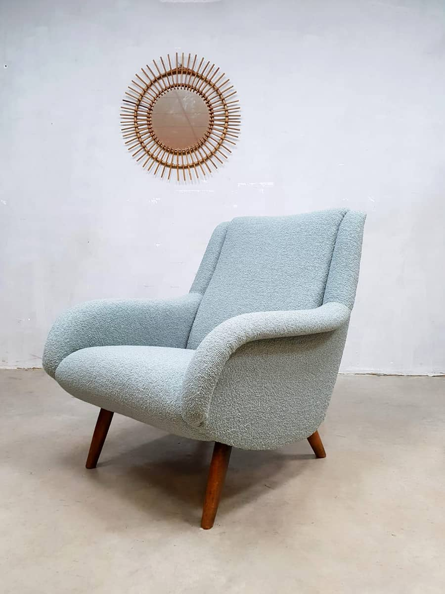 2 Fauteuils Cocktails Vintage Design Lounge Chair Fauteuil Armchair Ice Blue