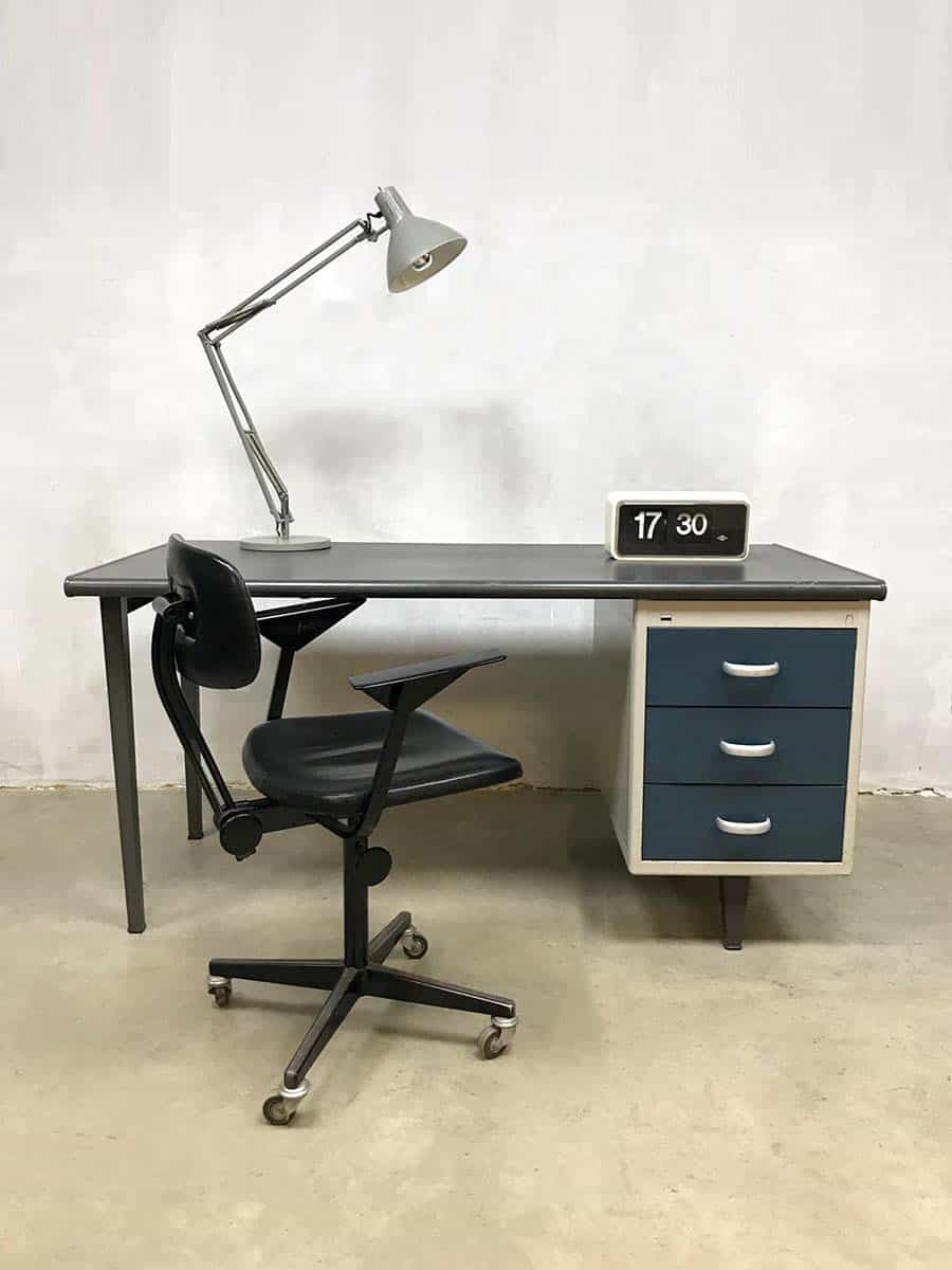 Vintage Industrieel Vintage Industrial Writing Desk Bureau Industrieel Gispen Cordemeyer