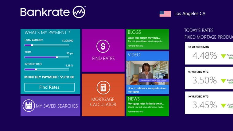 Bankrate Mortgage for Windows 8 and 81