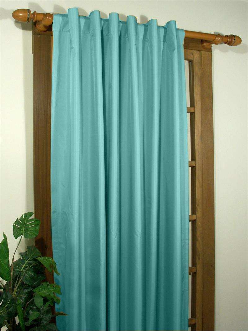 Double Wide Curtain Panels Elegance Double Width Curtain Panel With Back Tabs In 6 Colors