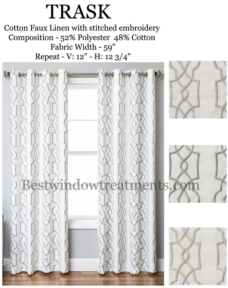 108 Inch Curtain Panels Trask Heavy Linen Style Curtains New Bestwindowtreatments