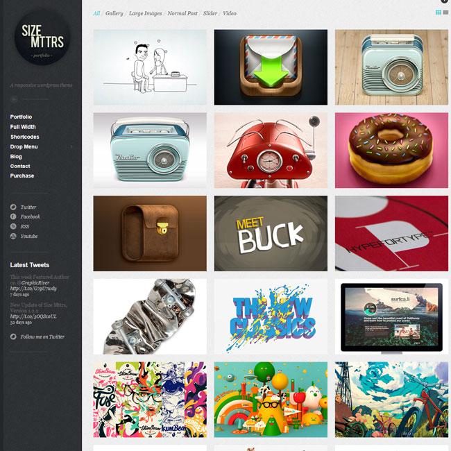 Size Mttrs - Premium Responsive Portfolio Theme Best WordPress