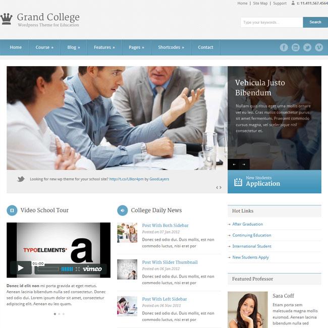 Grand College - Wordpress Theme For Education Best WordPress
