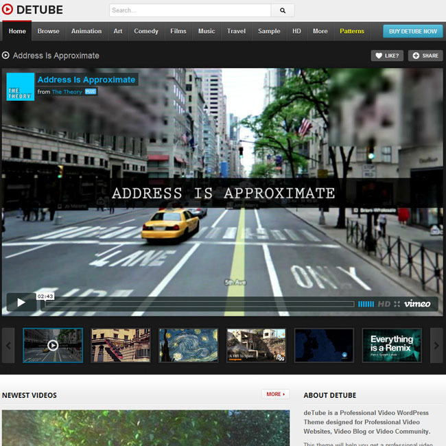 deTube - Video WordPress Theme Best WordPress Themes 2018